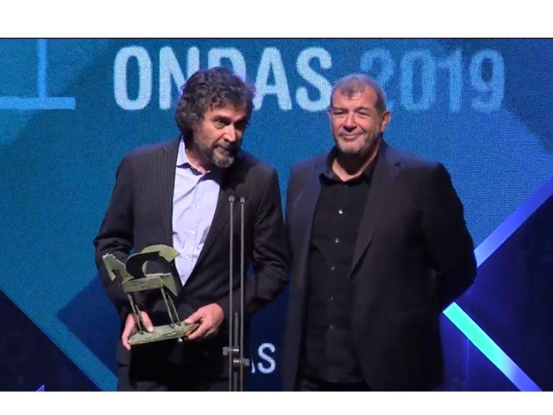 Premio Ondas , Sra Rushmore, Cesar Garcia, Clemente Manzano, agradecen , programapublicidad