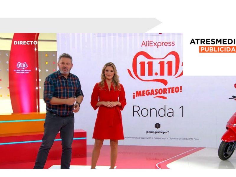 Récord ,ventas , Atresmedia, AliExpress, Día del Shopping, programapublicidad