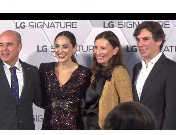Tamara Falcó, Jaime de Jaraíz, presidente , Miguel Ángel Fernández, LG Electronics Iberia, Anais Moreno, LG, responsable de Marketing de LG; programapublicidad