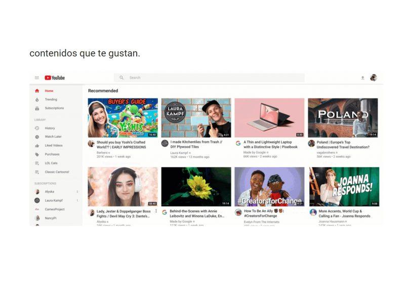 nuevo formato, vidoes, diseño, youtube ,contenidos, que te gustan