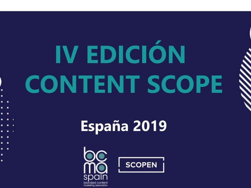 CONTENT SCOPE, 2019, programapublicidad