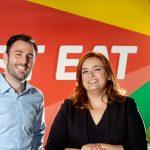 Chelo Domínguez, Icíar Luengo y Lorenzo Solís  a marketing, Just Eat España .