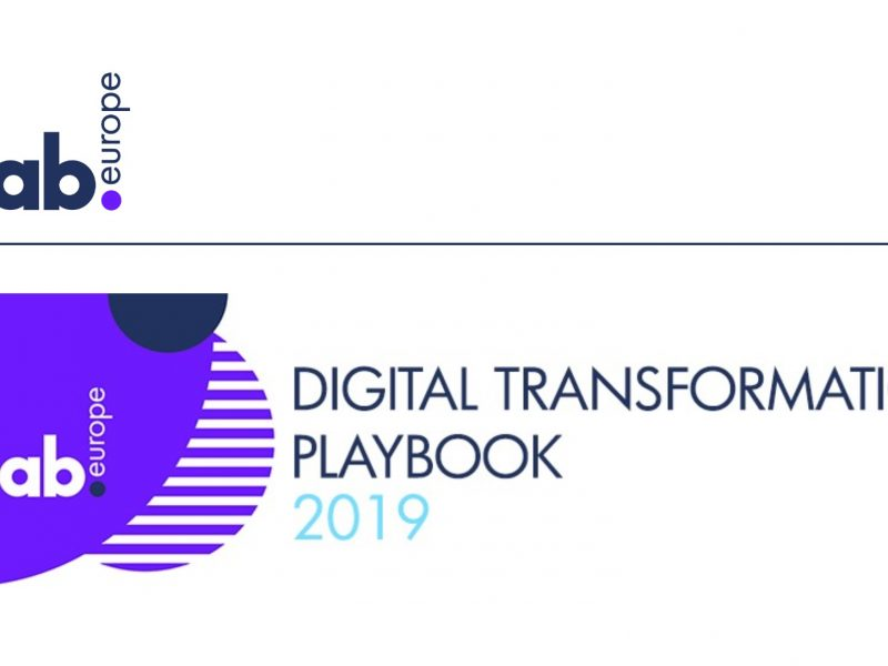 IAB Europe ,Digital Transformation ,Playbook 2019, programapublicidad