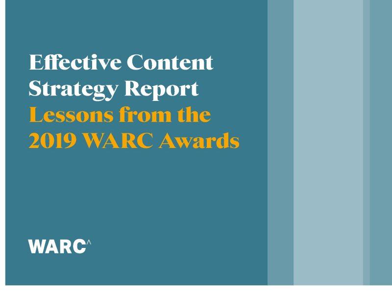 WARC Adwards, Effective , Social Strategy , Report, programapublicidad