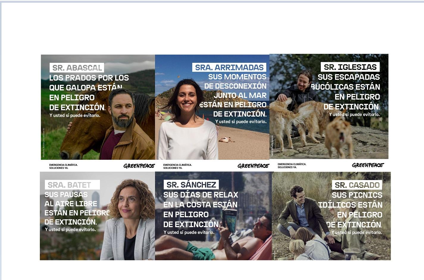 campaña , OMD , Greenpeace , politicos, programapublicidad