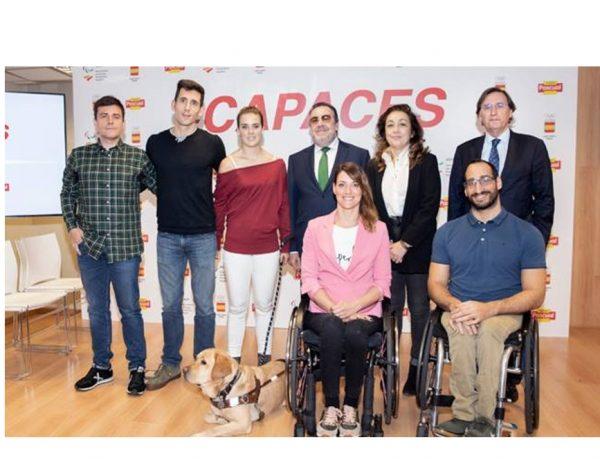 Capaces' homenajea a aquellos deportistas paralímpicos que son ejemplo de superación en su vida personal y profesional. protagonizadas por 4 deportistas