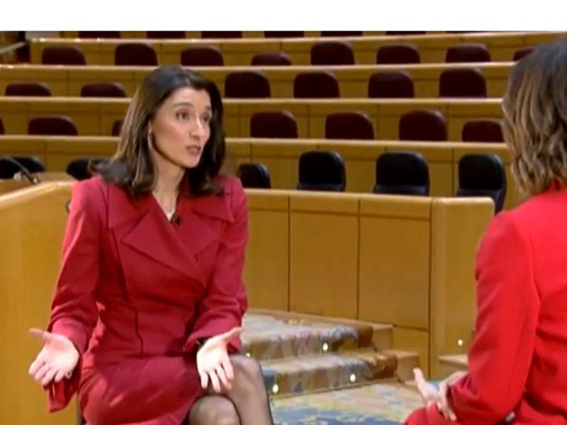 Pilar Llop ,PSOE, presidenta ,Senado, programapublicidad