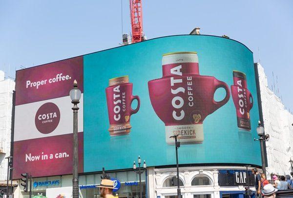 costa, Piccadilly Lights, programapublicidad