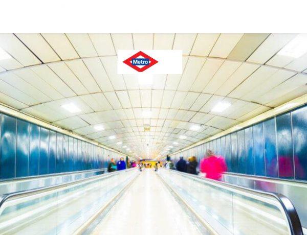 metro, madrid, pasillo, estación, logo, programapublicidad