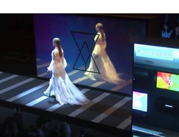 Samsung , primer , desfile 5G , España, grande, programapublicidad