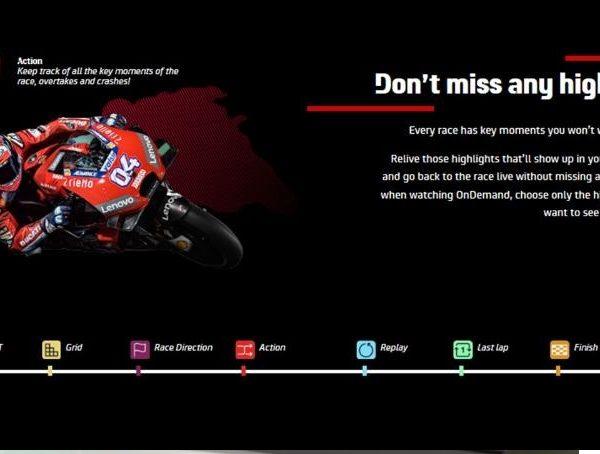 higlights , campaña, landing page, moto GP, programapublicidad