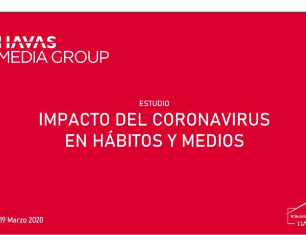 IMPACTO DEL CORONAVIRUS, havas media group, habitos, medios, 19 marzo, programapublicidad