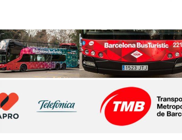 Mediapro, Telefónica , TMB , realidad aumentada , 5G , autobúses, bus, turístico, programapublicidad