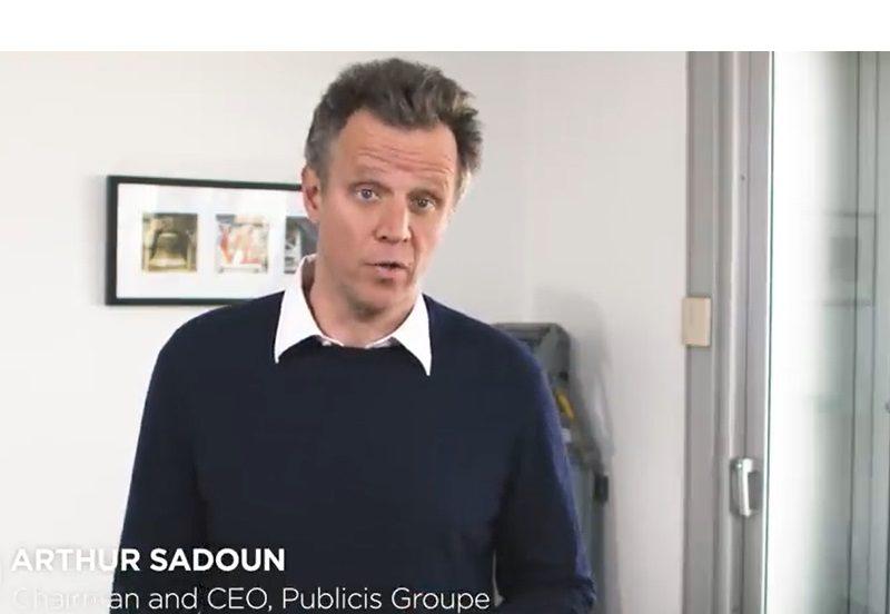 Publicis Groupe, Arthur Sadoun, agencias , publicidad, coronavirus , mensaje ,vídeo ,programapublicidad