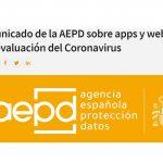 AEPD advierte sobre apps y webs de autoevaluación del Coronavirus.