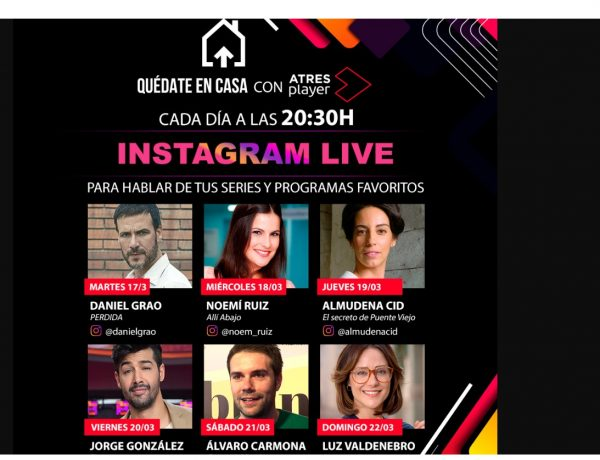 atresplayer, instagram live, 20.30, hablar series, programapublicidad