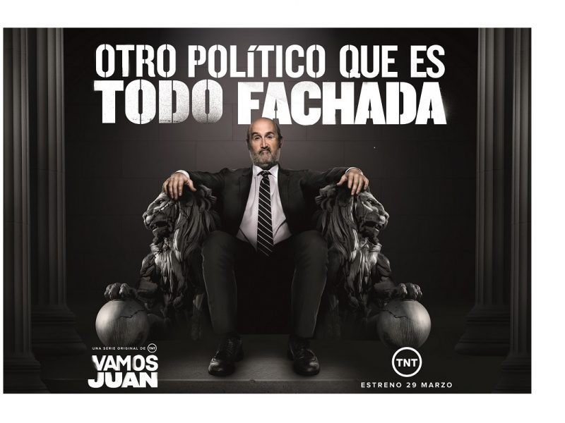 lona gigante, TNT, Vodafone , Darwin Social Noise, en Madrid , estreno , Vamos Juan, programapublicidad