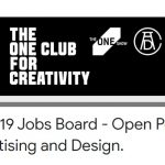 The One Club for Creativity lanza The One Club COVID-19 ofrece ofertas de trabajo