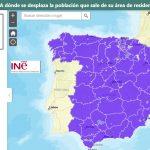 El INE lanza mapas de patrones de movimiento de la población con ESRI.