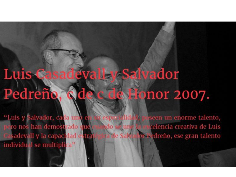 Pedreño, salvador, Publicis, Luis Casadeval, cdec de honor, programapublicidad