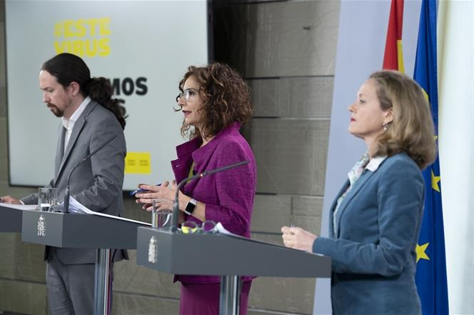 consejo Ministros, televisiones, iglesias, Montero, Calviño, 31 de marzo, 2020, programapublicidad