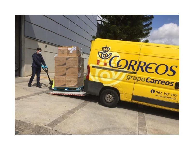correos, coronavirus, cargando , mascarillas, transportistas, programapublicidad