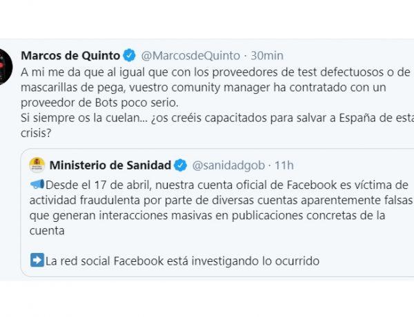 de quinto, twitter, perfiles, ministerio sanidad, programapublicidadde quinto, twitter, perfiles, ministerio sanidad, programapublicidad