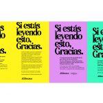Campaña de Exterior ' Gracias' de TBWA y JCDecaux .
