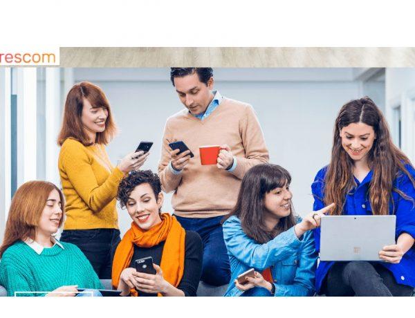 trescom, ejecutivos, jóvenes, dispositivos, moviles, tabletas, programapublicidad