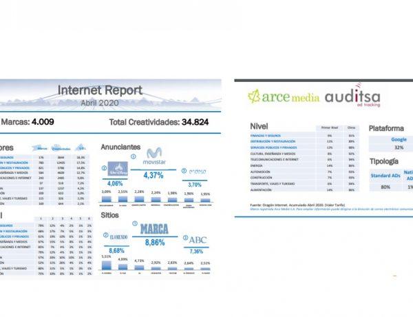 Internet report, abril, arce, auditsa, programapublicidad