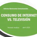 Récord histórico de consumo de internet con 3 horas y 14 por persona* al día.