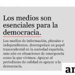 Los medios españoles celebran el Día Mundial de la Libertad de prensa.