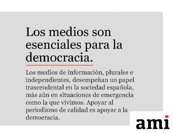 medios , esenciales, democracia, AMI, MEDIOS, programapublicidad