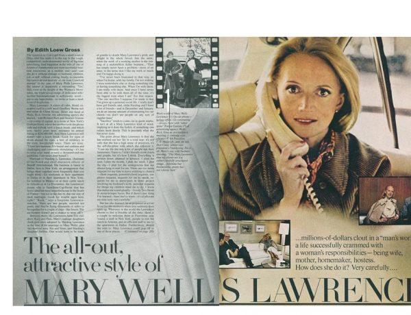 Mary Wells Lawrence, vogue, programapublicidad