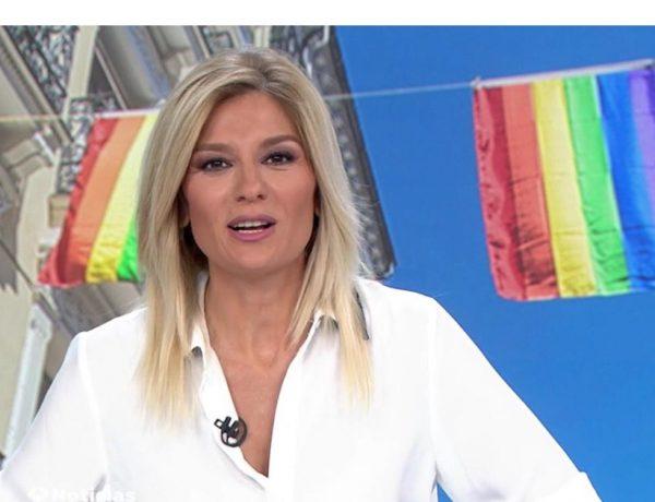 Sandra Golpe, antena 3, Noticias 1, viernes 26 junio, programapublicidad