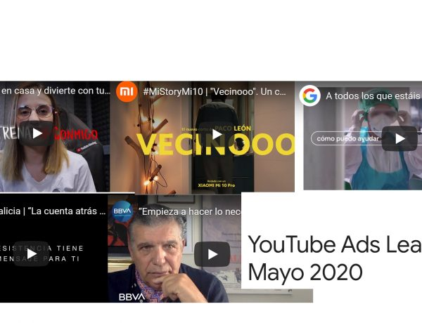 YouTube, ads, leaderboard, mayo, 2020, google, programapublicidad
