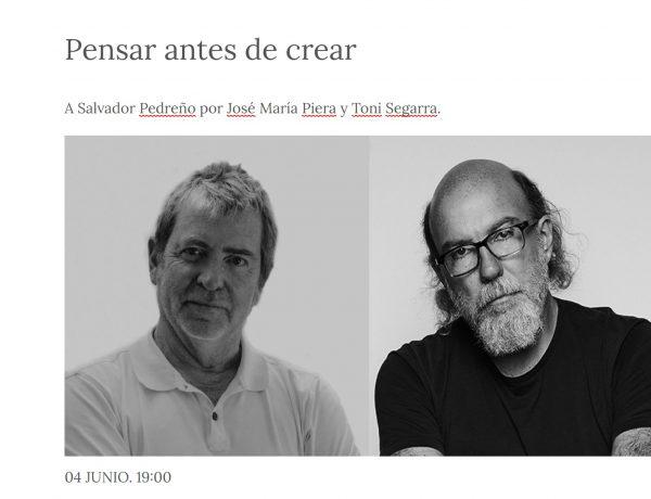 c de c , la APG , jueves , homenaje , Salvador Pedreño , José María Piera , Toni Segarra, programapublicidad