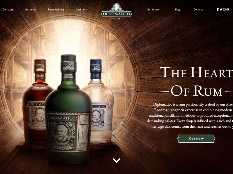 darwin, diplomatico, rum, programapublicidad
