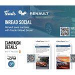 Teads de la mano de OMD mejora los KPI´s de Renault en redes sociales.