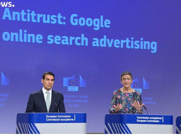 Margrethe Vestager, Google , vicepresidencia europea, programapublicidad