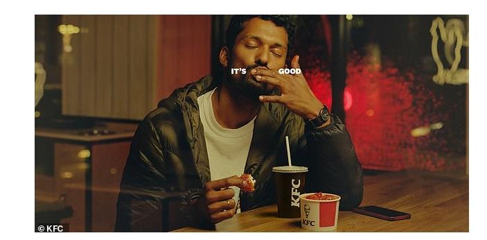 KFC , interrumpe , uso , eslogan, fingers, Its Finger ,Lickin ,Good, programapublicidad
