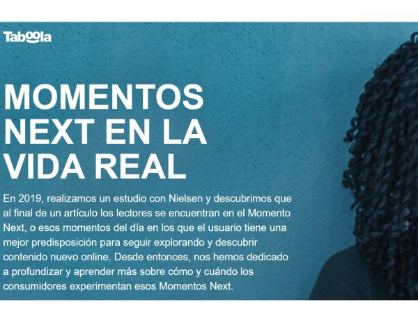 taboola, moments ,next, nielsen, programapublicidad