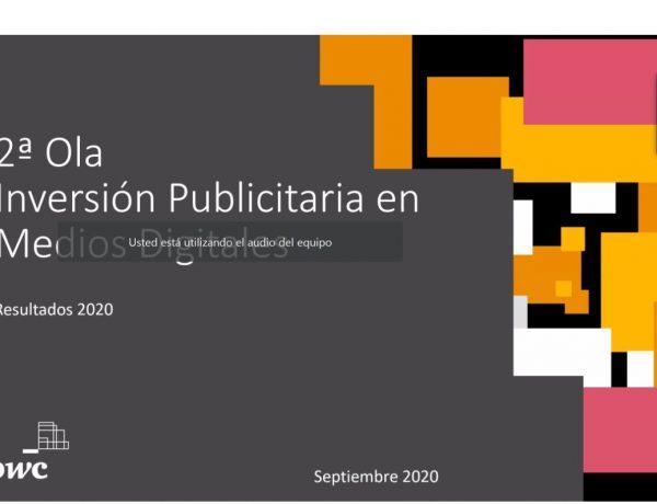 2ª ola, inversion, publicitaria, medios , digitales, nebot,tv conectada, iab pwc, 2020, forecast, publicidad digital ,programapublicidad