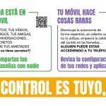 La AEPD y ministerios de Educación  e Igualdad, junto a PantallasAmigas lanzan 'El control es tuyo, que no te controlen'.