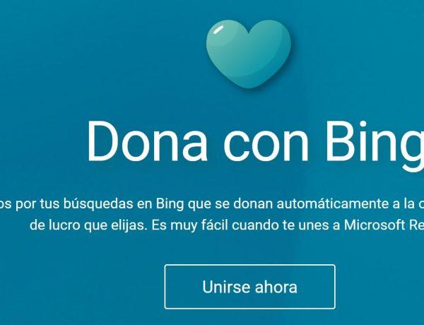 Dona con Bing, España, microsoft, rewards,