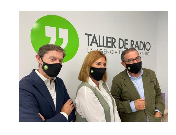 Fernando Chulilla, Mapi Caloto y Oscar Barja, taller de radio, programapublicidad