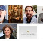 Casero, Eguizábal, Ricardo Pérez , Valmorisco, Académicos de Honor de la Academia de la Publicidad.
