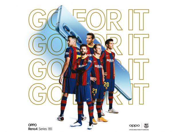 OPPO ,FC Barcelona ,TikTok Challenge , Piqué, Sergi Roberto, Frenkie De Jong, Pjanic , Ansu Fati, programapublicidad
