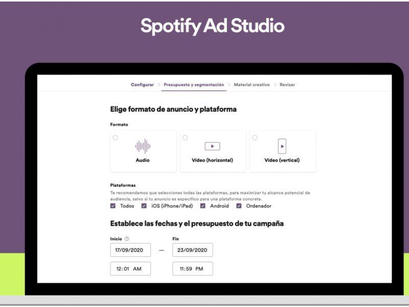 Spotify , lanza , Ad Studio , España, advertising, programapublicidad