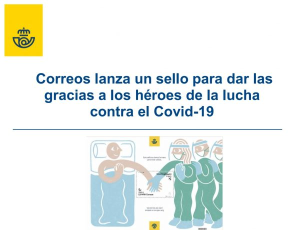 correos, lanza, sello, heroes, covid, mono, video, programapublicidad